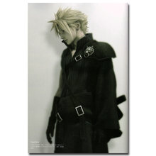 Final Fantasy VII Art Silk Fabric Poster Print 13x20 24x36 inch Vedio Game Cloud Strife Pictures for Living Room Wall Decor 001(China)
