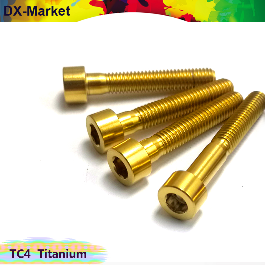 m3 m4 m5 m6 m8 <font><b>m10</b></font> <font><b>titanium</b></font> hex socket head cap <font><b>screw</b></font> , Golden color gr5 <font><b>titanium</b></font> bolt image