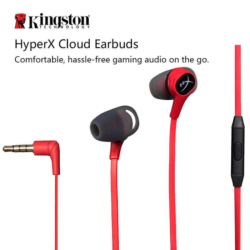 Kingston słuchawka douszna HyperX Cloud słuchawki douszne gamingowy zestaw słuchawkowy z mikrofonem wciągające w grze audio