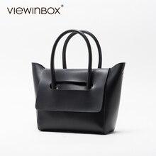 Viewinbox mini einkaufstasche frauen famous brand weichen rinder leder kleine handtaschen casual style crossbody umhängetasche