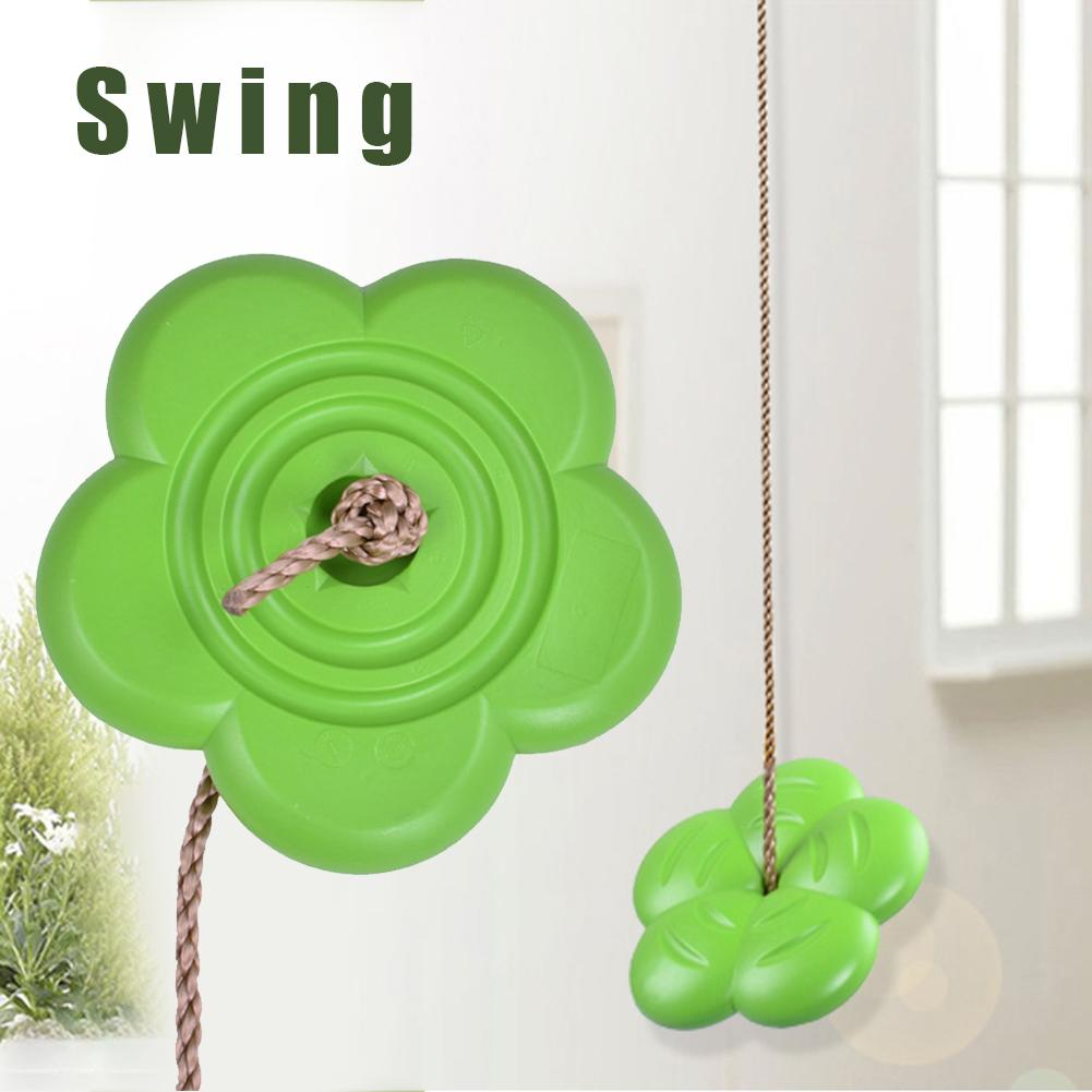 Children Swing Disc Toy Seat Kids Swing Round Rope Swings Outdoor Playground Hanging Garden Play Entertainment Activity 4