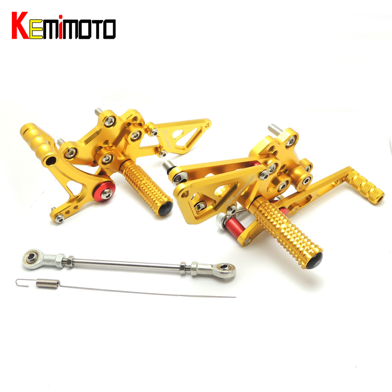 KEMiMOTO For Kawasaki Ninja250R EX250K Ninja 250R 2008 Motorcycle Accessories CNC Adjustable Rearset Footpeg 2008-2012KEMiMOTO For Kawasaki Ninja250R EX250K Ninja 250R 2008 Motorcycle Accessories CNC Adjustable Rearset Footpeg 2008-2012
