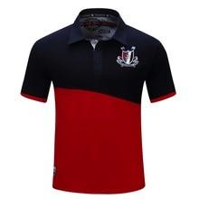Новая мода Горячая бренд летние мужские повседневные Высококачественные свободные футболки с вышивкой мужские сексуальные рубашки поло в Корейском стиле
