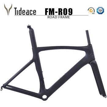 цена на OEM Tideace carbon road bike frameset racing bike frame bicycles C brake carbon road frame cycling bicicletas de carbono frames