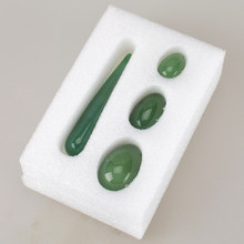 Body Massage Wand Green Aventurine Jade Egg Drilled With 10cm Yoni Wand For Women Kegel Exercise Pelvic Vaginal Tightening(China)