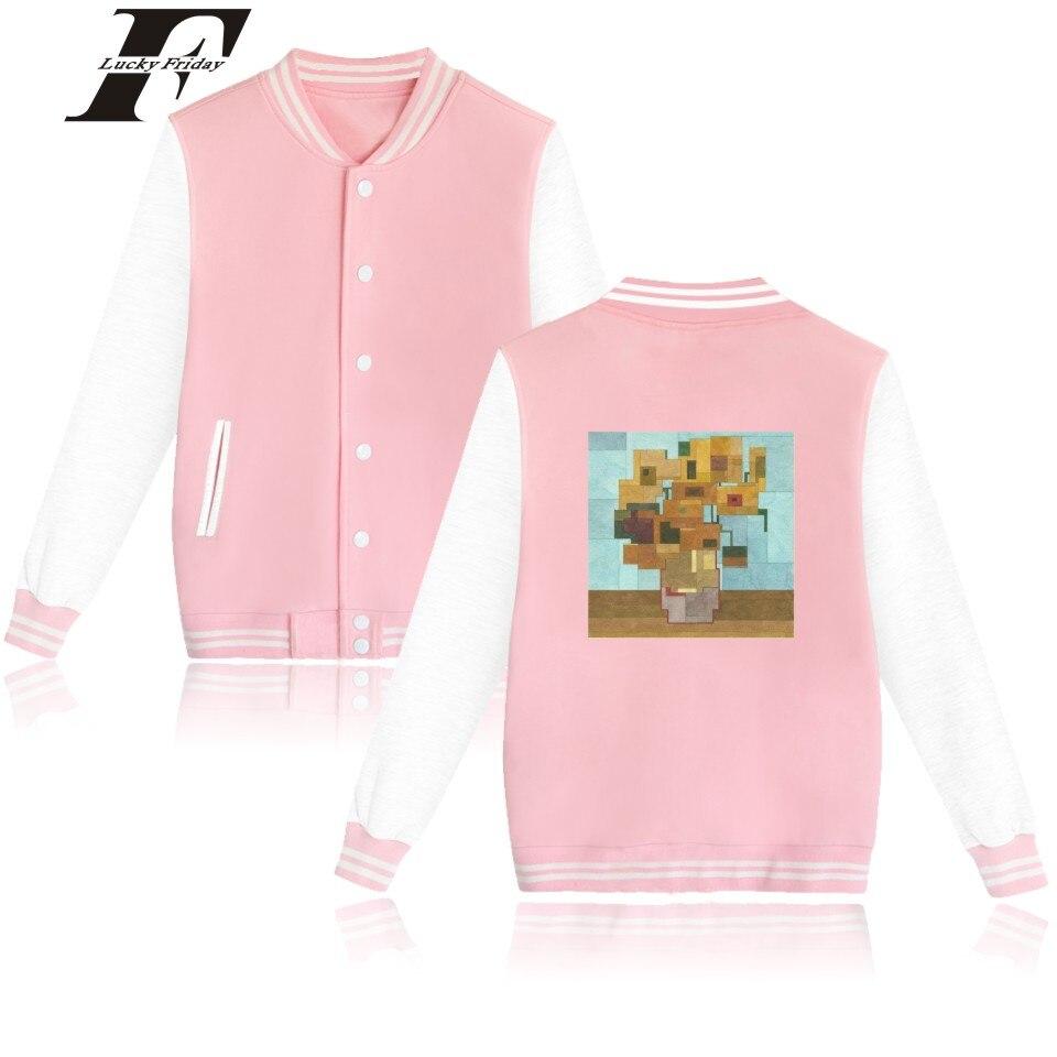 LUCKYFRIDAYF Funny Painting Baseball font b Jacket b font Plus Warm Cotton Coat 4XL Sweatshirt Female