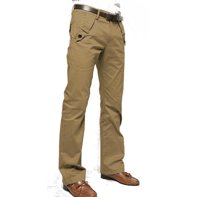 3 Colores de Los Hombres Pantalones 2016 Pantalones de Moda Masculina de Algodón Liso Largos Rectos flojos Holgados Pantalones Ocasionales Más El Tamaño 32 34 36