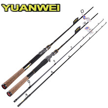 YUANWEI 1.98m 2.1m 2 Section Spinning Casting Fishing Rod M Power Lure Weight 6-24g Carp Fishing Lure Rod FUJI Accessories Rod yuanwei 1 8m 2 1m spinning rod fast action m ml mh power casting rod carbon fiber fishing rod lure rod high quality b188