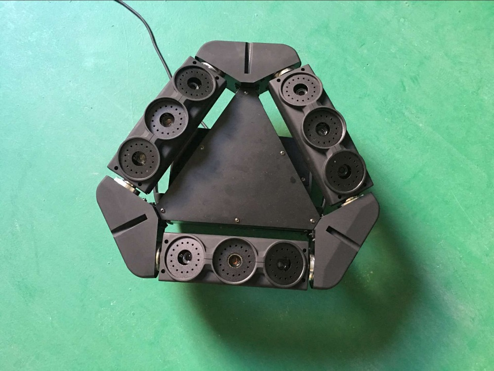 New design single green 50mw 9 eyes moving head spider laser light dmx dj lighting for bar party ktv 3 heads disco stage lights