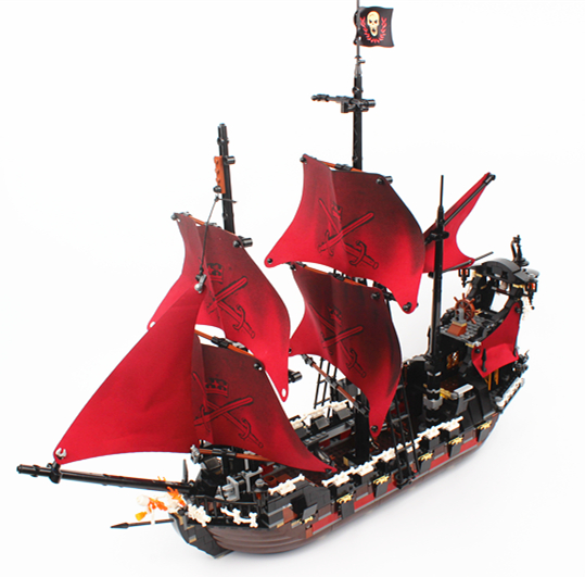 Lepin 16009 1151pcs Queen Anne's Revenge Pirates Of The Caribbean Model Building Block Bricks Toys Model Gift 4195 lepin compatible 16009 1151pcs pirates of the caribbean queen anne s reveage model building kit blocks brick toys for kids 4195