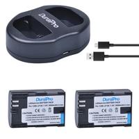 DuraPro 2 Pack LP E6 2000mAh LP E6 LPE6 Camera Battery USB Dual Charger For Canon