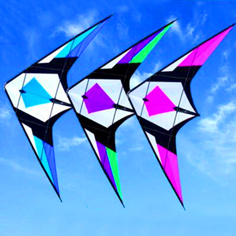 free shipping high quality 2.1m sword dual line stunt kites with handle line flying kite string reel large kites toys weifang