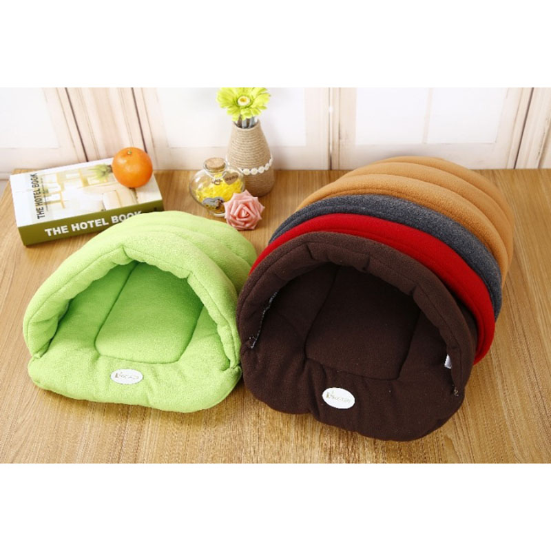 Hot Pet Cat Bed Small Dog Puppy Kennel Sofa Polar Fleece Material Bed Pet Mat Cat House Cat Sleeping Bag Warm Nest High Quality in Houses Kennels Pens from Home Garden