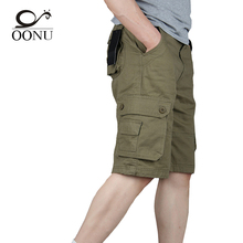 OONU 2017 Hot Summer Men's Army Cargo Work Casual Bermuda Shorts Men Fashion Joggers Overall military Trousers Plus size 29-46