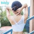 Beboy nueva crisscross sandalia sexy deportes sujetador push up sujetador deportivo de fitness yoga sujetador de malla transpirable ropa interior de compresión superior