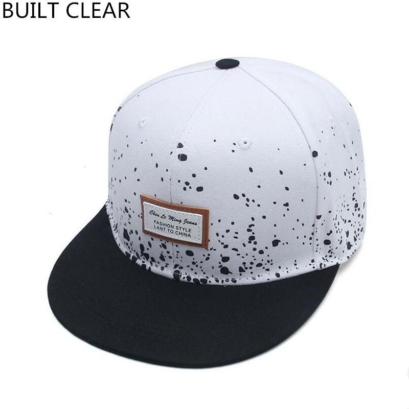 (BUILT CLEAR) baseball cap women fashion street flat along hip hop hat brand men and women skateboarding baseball cap
