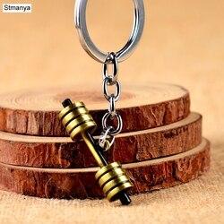 Offre spéciale haltère haltère fitness bijoux porte-clés voiture porte-clés porte-clés pour hommes femmes porte-clés sport bijoux 17393