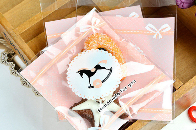 100pcs/lot baby shower favors for girl candy bags box sealing bag adhesive kids birthday party supply gift
