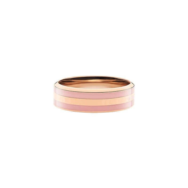 2020 รายชื่อใหม่คริสตัลเดิม TITANIUM เหล็กชุบ Rose Gold Porcelain DW ผู้หญิงผู้ชายคู่แหวน