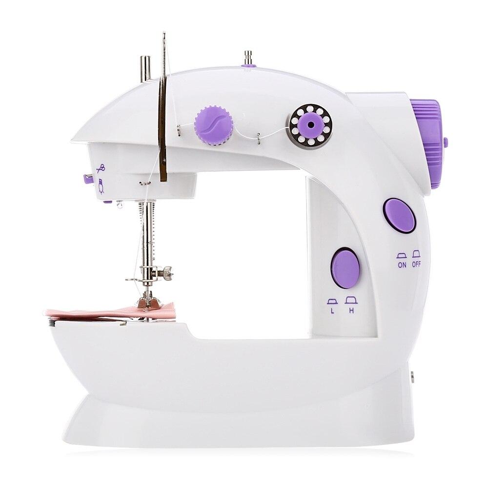 2018 Original Mini máquinas de coser doble velocidad de doble hilo multifunción eléctrica Mini automática Rewind máquina de coser