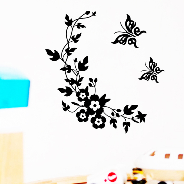 Classic Butterfly Flower Stickers 10