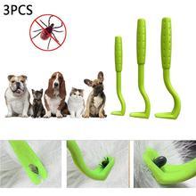 3pcs/set Plastic For Tick Twist Hook Flea Remover Pet Cat Dog Accessaries Tool Supplies Dropshipping