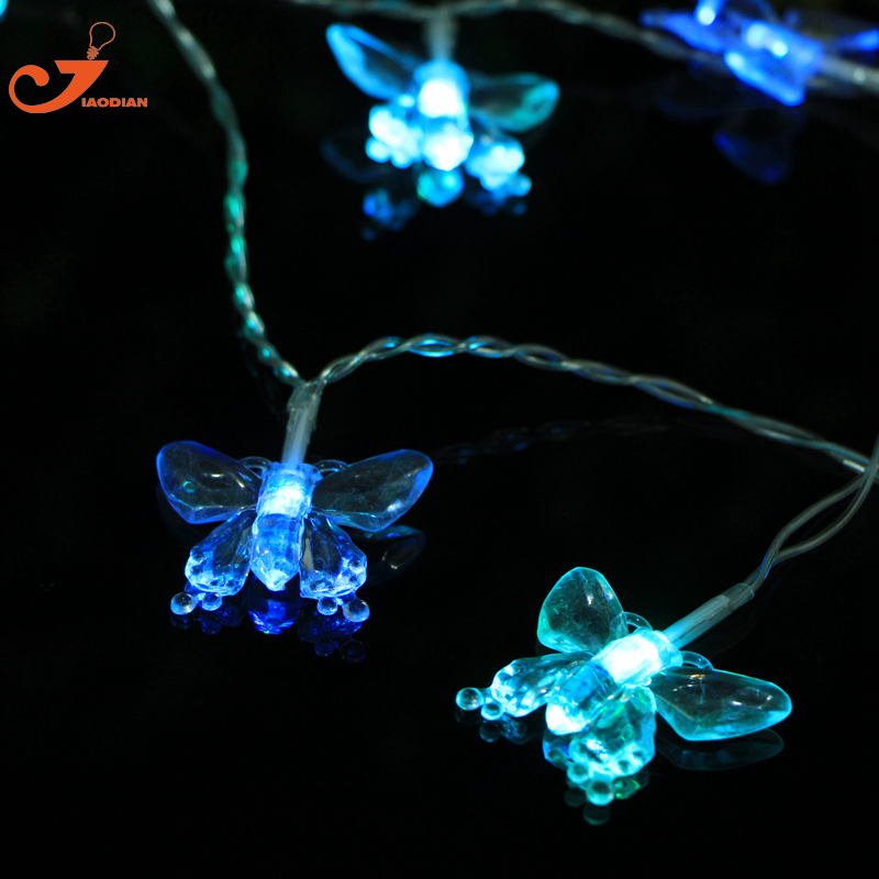 Butterfly String Lighting LED Patio Lights Party Wedding Garden Christmas  Lights Holiday Battery Operated Christmas Lights