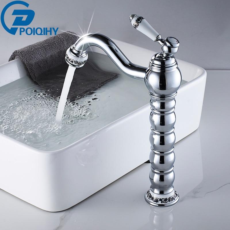 Comprar Promoción grifo de lavabo cubierta montada cromo pulido baño grifo de Cuencas de grifo fiable proveedores en poiqihy Store