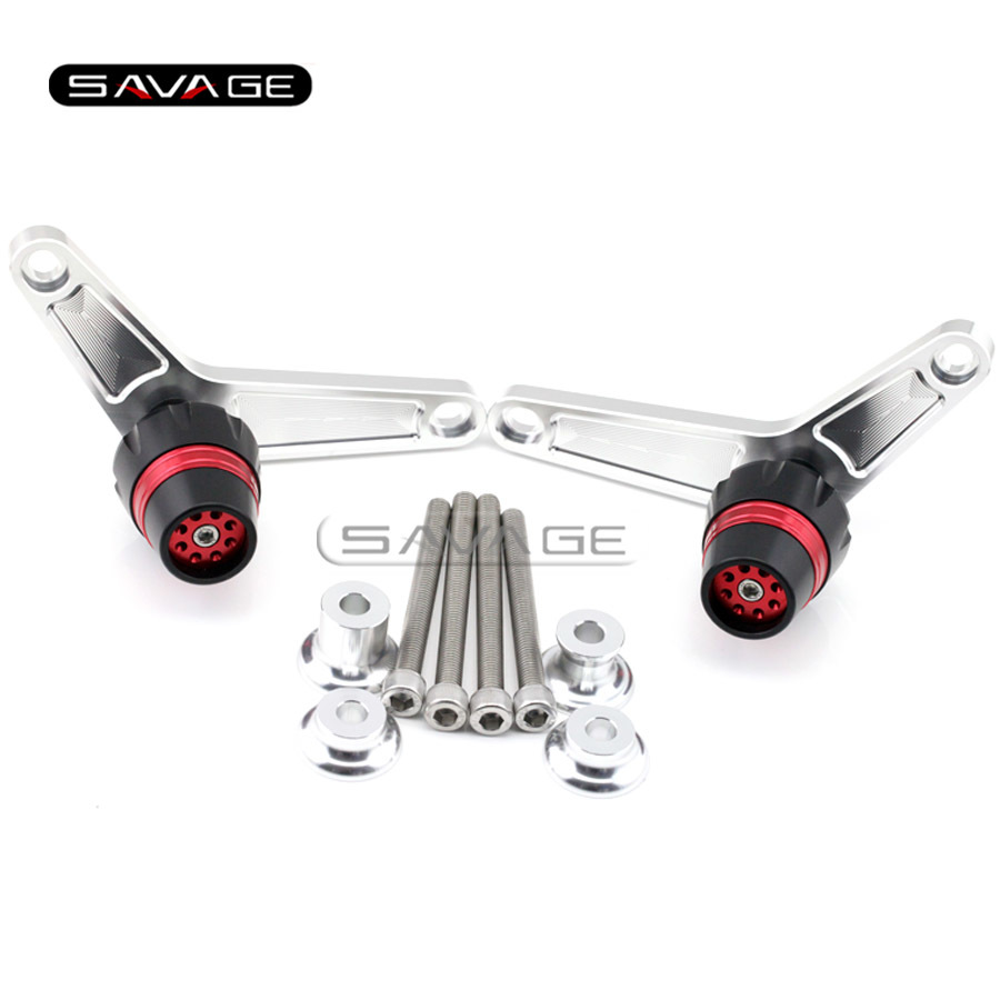 For BMW F800R 2009 2010 2011 2012 2013 2014 Red Motorcycle Accessories Frame Sliders Crash Protector Bobbins Falling Protection fit for bmw f800r 2008 2009 2010 2011 2012 front rear axle fork crash sliders cap red motorcycle falling protection