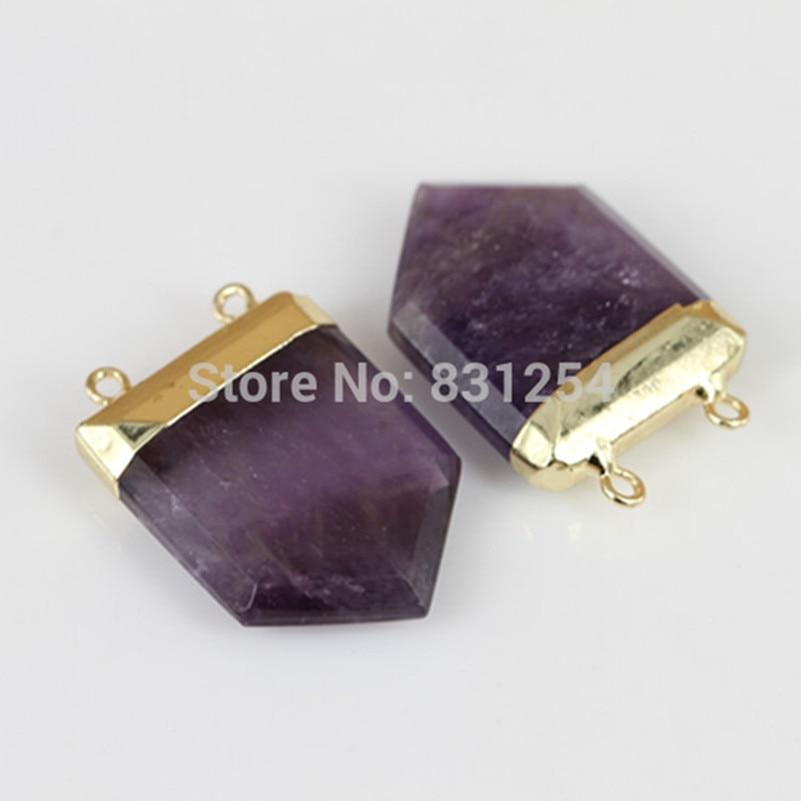 1pc Natural Statement Quartz Stone Pendant Charm Pendant Connector Fashion Women Pendant For Necklace Making Lsd-0007