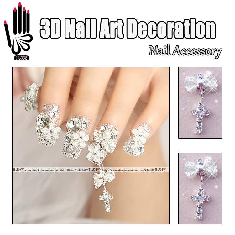 10pcslot 3d Alloy Rhinestones Bow 3d Nails Bow Tie Diy Nail Art Bow
