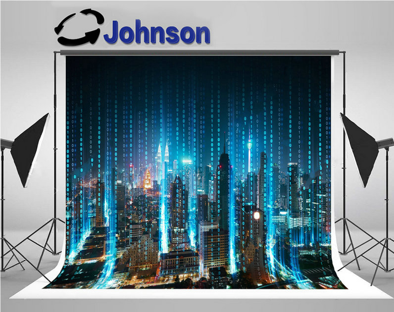 night sky office super city skyline light photo backdrop Vinyl cloth High quality Computer print party background