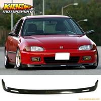 Fit 92 93 94 95 Honda Civic EG 2Dr 3Dr PU Front Bumper Lip Bodykit BYS Style