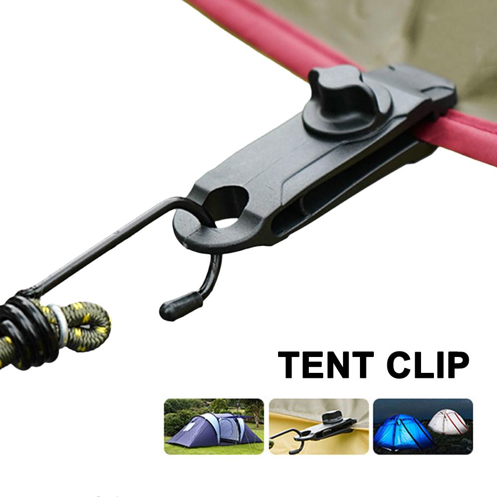 Tent Clip Adjustable Plastic Heavy Duty Windproof Awning Clamp Grip Outdoor Tarpaulin Clips Camping Canopy Clip Nylon Spiral