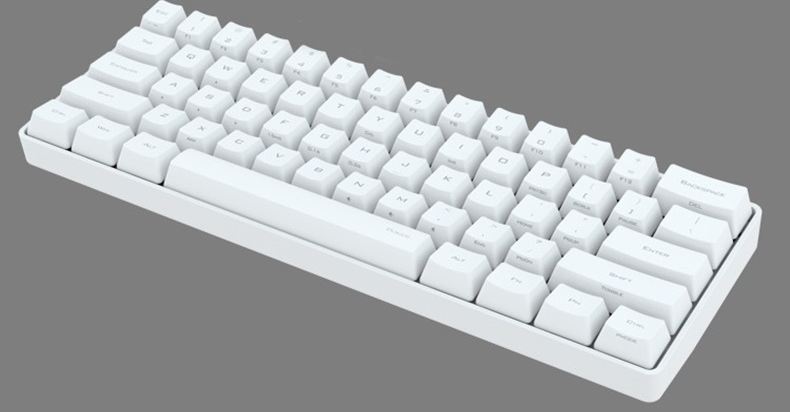 Prix pour Rapide gratuite ikbc poker mise à niveau édition 61 touches noir et blanc pbt mécanique mini 60% clavier peut ajouter led