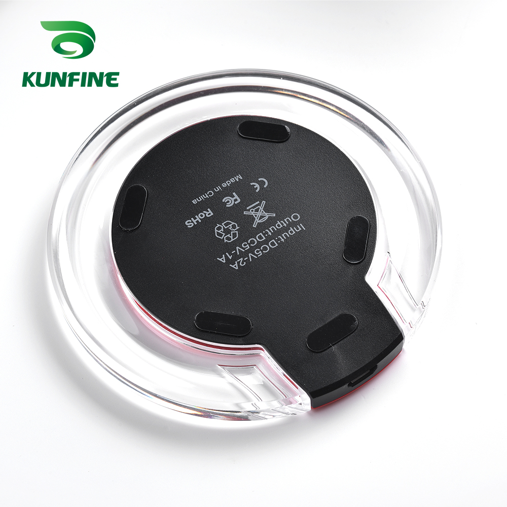 KUNFINE 10W Qi Wireless Charger for iPhone X8 Visible Fast Wireless Charging pad for Samsung S9S9 (6)