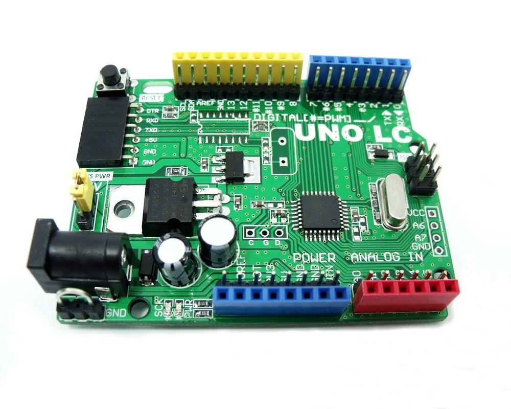 MassDuino UNO LITE LC MD-328D R3 5V 3.3V Fejlesztő tábla Arduino R3 kompatibilis alacsony költségű nagy teljesítményű 10 12 16 bites ADC