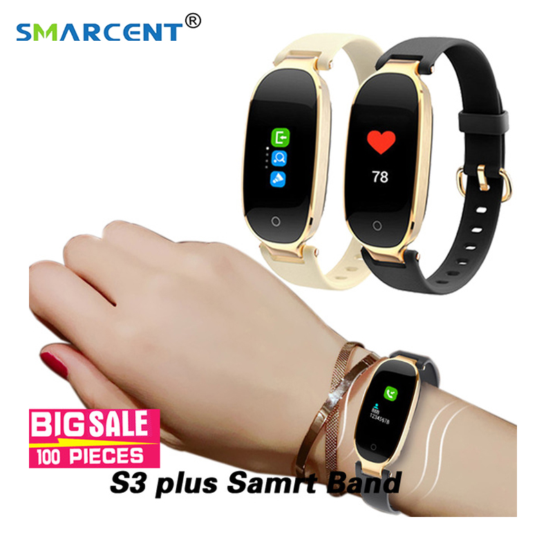 S3/S3 Plus Mulheres inteligente Monitor de Freqüência Cardíaca banda Smartwatch Relógio Inteligente À Prova D' Água relogio inteligente Para IOS Android Xiaomi