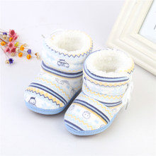 Baby Winter Warm Boots Cotton Padded Infant Toddler Baby Boys Girls Boots Newborn Soft Plush Bebe Boot 6-12 Months(China)