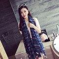 2016 de Bohemia de la bufanda de las mujeres bufandas del cabo femenino étnico chal ladies envoltura borla pashmina foulard tippet gasa grande de Descuento