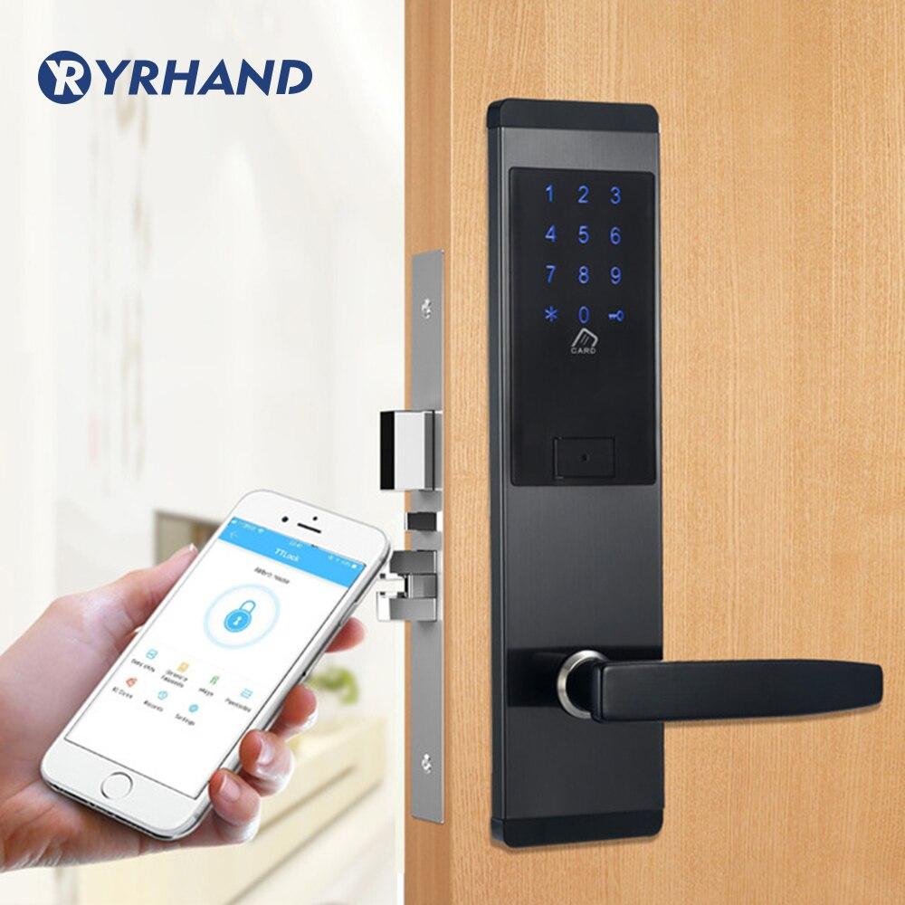 Serrure électronique de porte de sécurité, serrure intelligente d'écran tactile d'app WIFI, pêne dormant de clavier numérique de Code pour l'appartement d'hôtel à la maison
