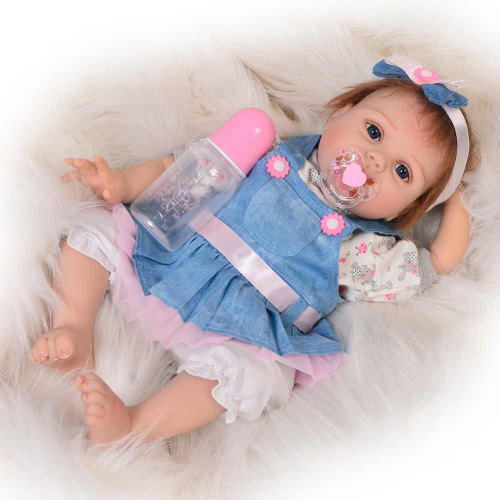 "2019 Soft Bebe Body Clothes For 22/"" Newborn Baby Reborn Supply Doll Kit Handmade"
