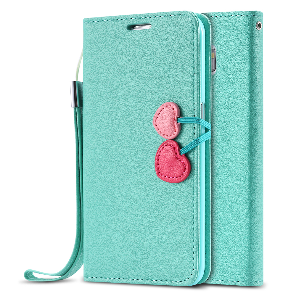 Cute Girl Cherry Series Leather Case Samsung Galaxy S7 S6 Edge Plus S5 Mini S4 S3 Magnetic Flip Stand Wallet Cover Bag Pouch - RCD Group Co., Ltd store