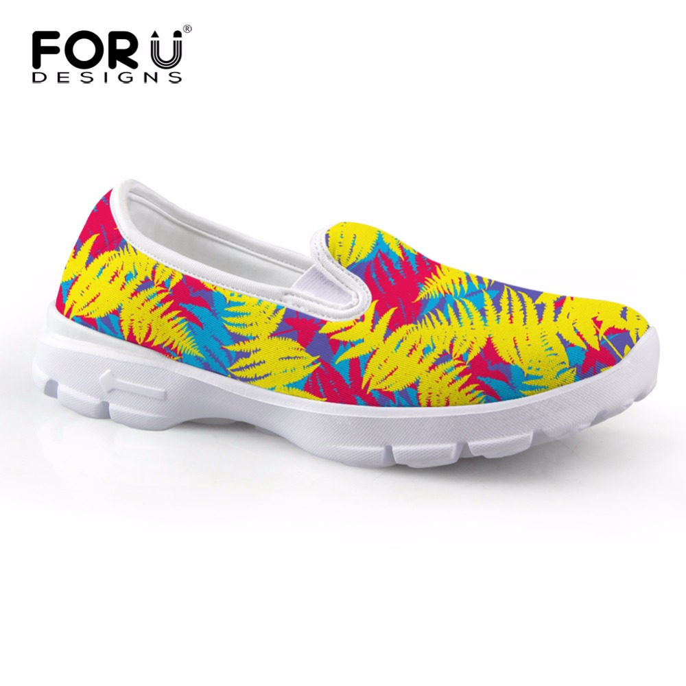 FORUDESIGNS Fashion Women Flats Boat Shoes Soft Comfortable Slip On Lazy Shoes for Lady Casual Flower Print Female Loafer Shoes odeon light flo 2757 10