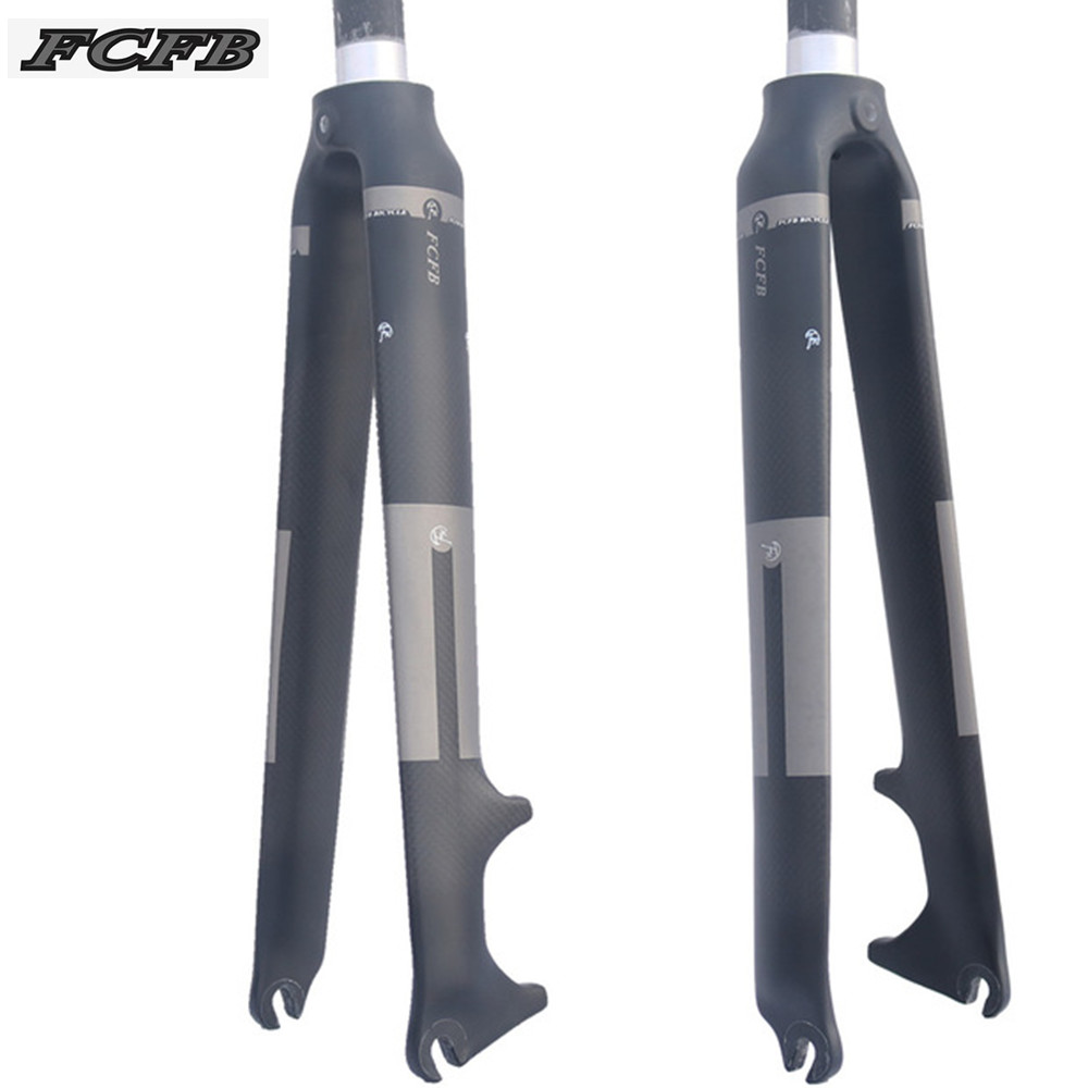 2016 FCFB FW Carbon Fiber Road Bike Front Fork Fixed Gear Cycling Bicycle Front Fork for
