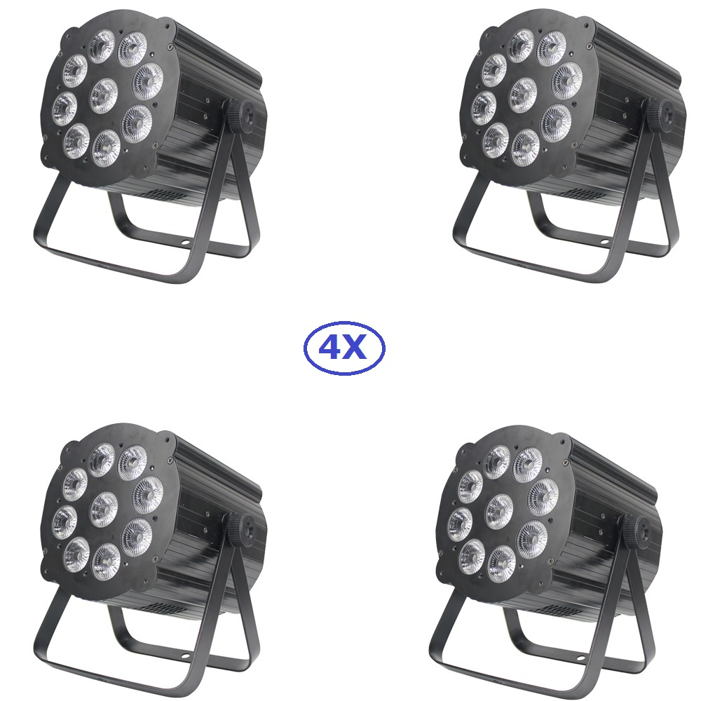 4 Pack New Design 9X12W RGBW Quad Color Led Stage Par Lights With DMX512 For Disco DJ Projector Christmas Party Decorations клаксон new 118 12 24v 4 quad