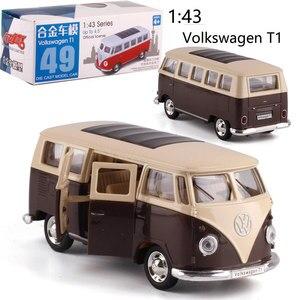 Image 3 - Caipo 1:38 Тяговый автомобиль Volkswagen bus T1 литой металлический автомобиль из сплава для коллекции, подарка и украшения