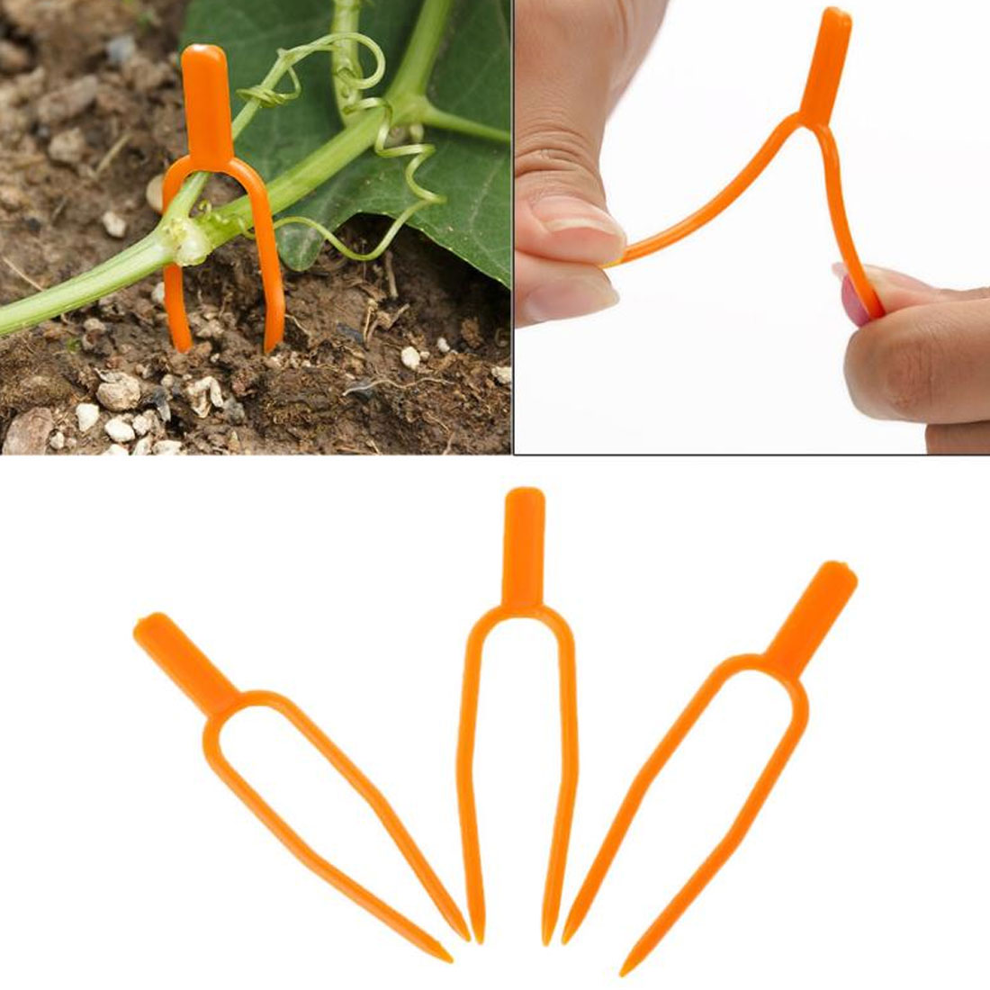 Plastic Quality Plant Clips Garden Supplies 50pcs/set Fixing Fastening Fixture Clamp Strawberry Fork Farming Clip Plant Support