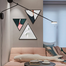 Modern minimalist geometric decorative painting with frame Living room sofa background wall abstract Bedroom mural