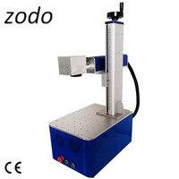 Глубокая гравировка 50 Вт Портативный рабочего оптического волокна лазерная маркировочная машина малая гравировальная машина